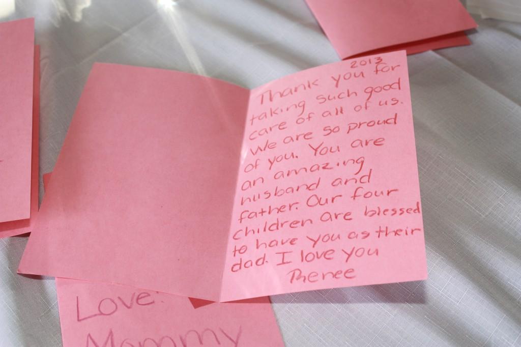 My card to Steve. :)