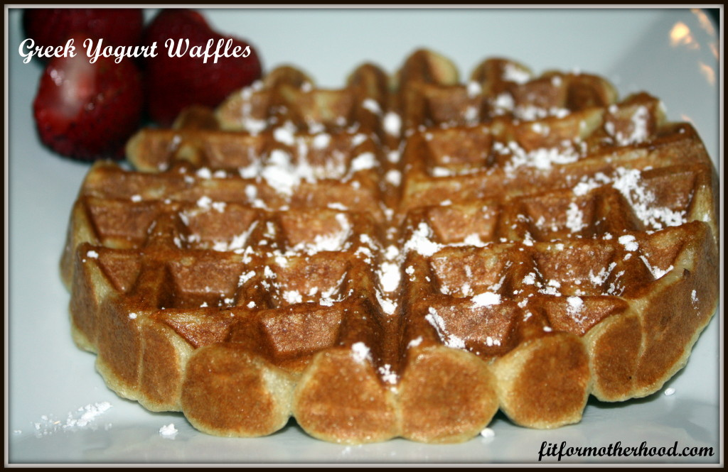 WIAW 30 - Greek Yogurt Waffles
