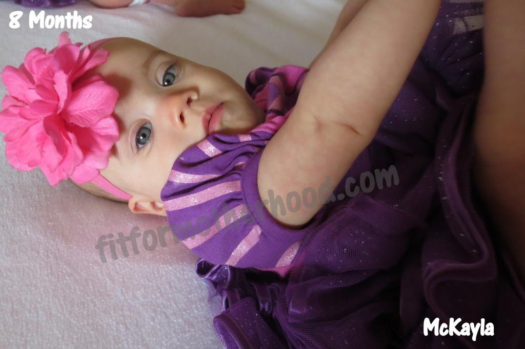 8 months mckayla laying