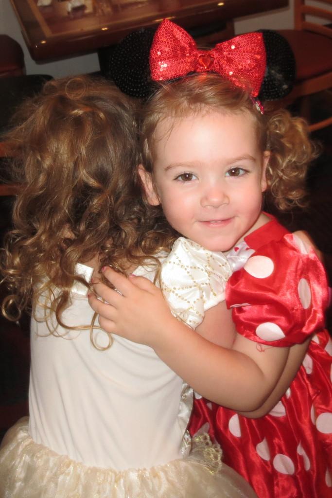 chef mickeys - sophia bella hug - b's face