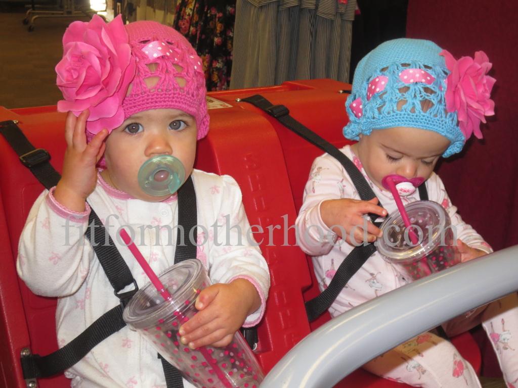 mimm - babies in target cart first trip