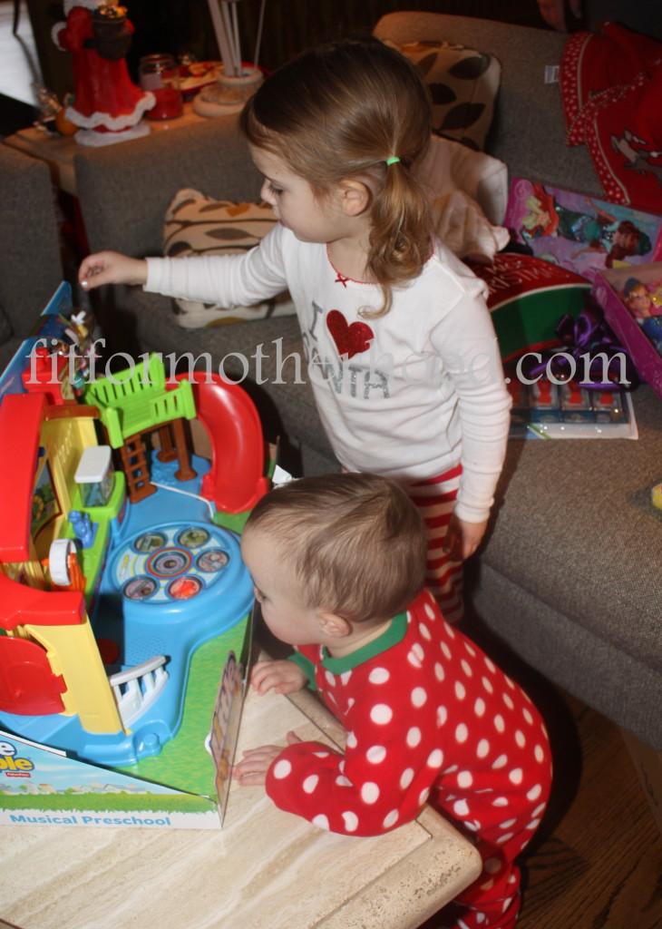 christmas 2014 - mckayla isabella playing 3