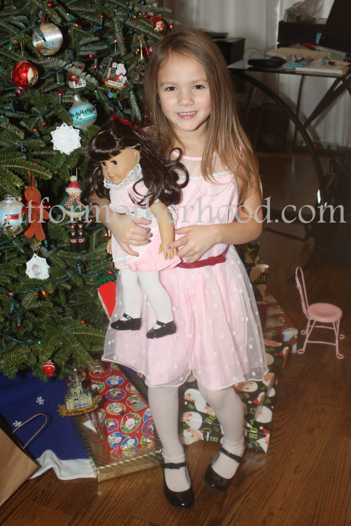 christmas 2014 - sophia with samantha matching standing