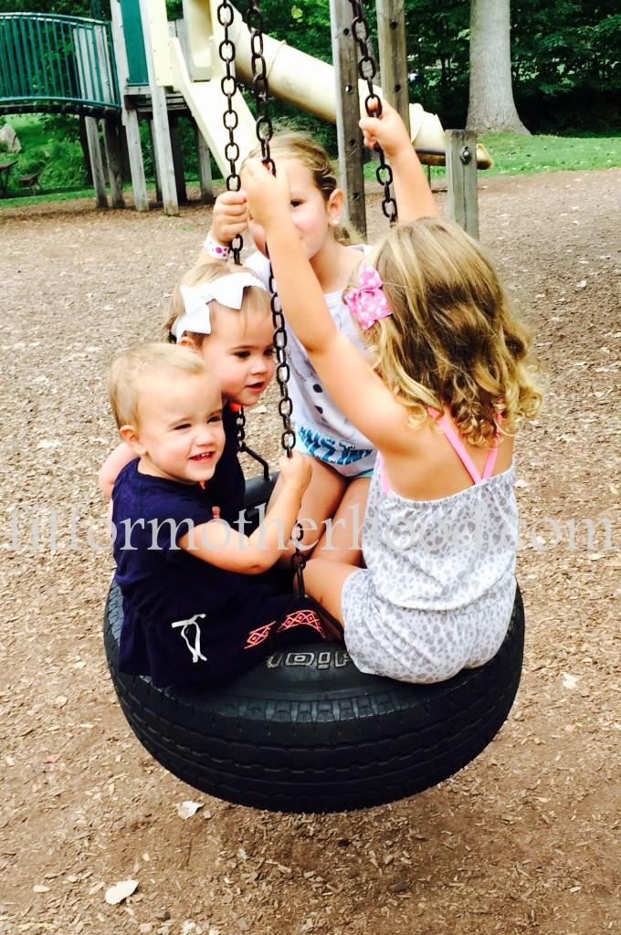 mimm - girls tire swing