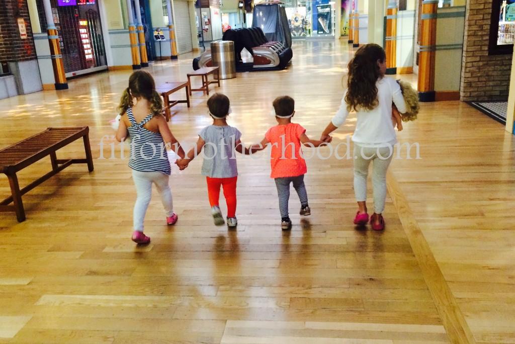 mimm - mall girls holding hands