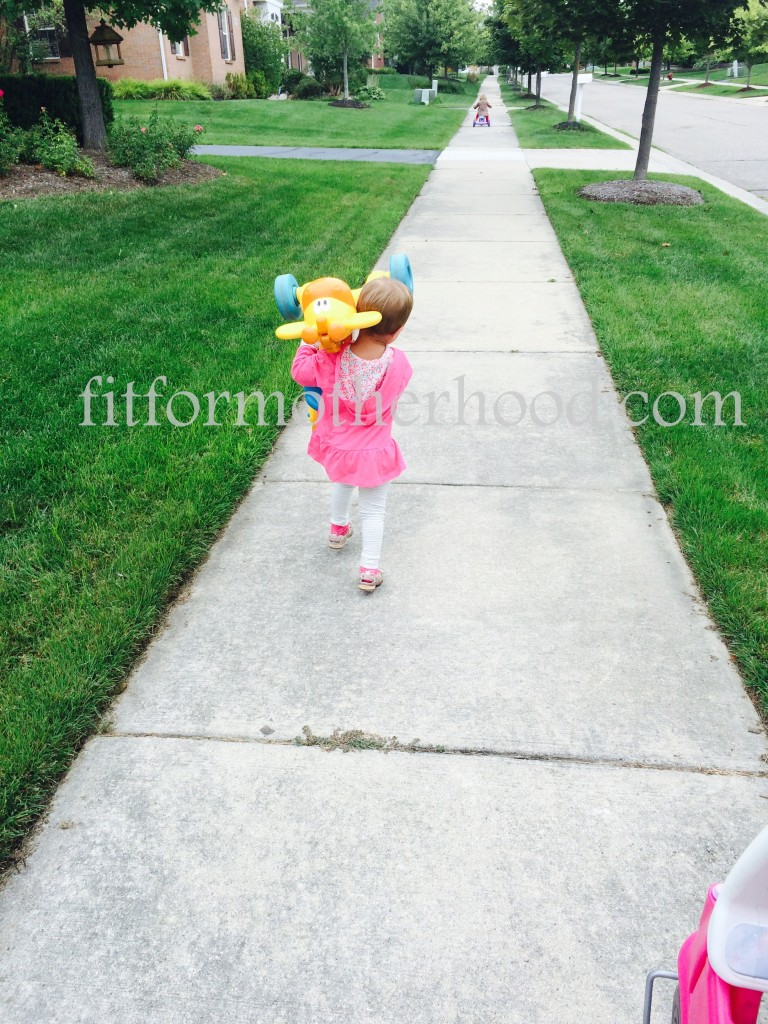 think - mckayla carrying giraffe