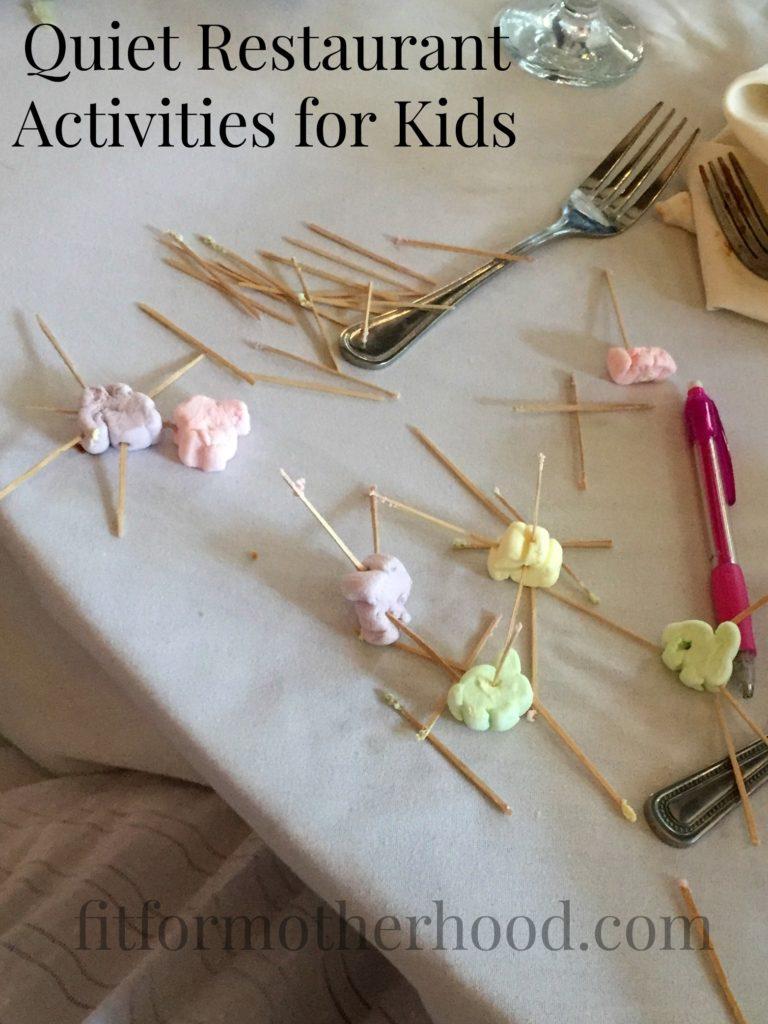 restaurant activities for kids